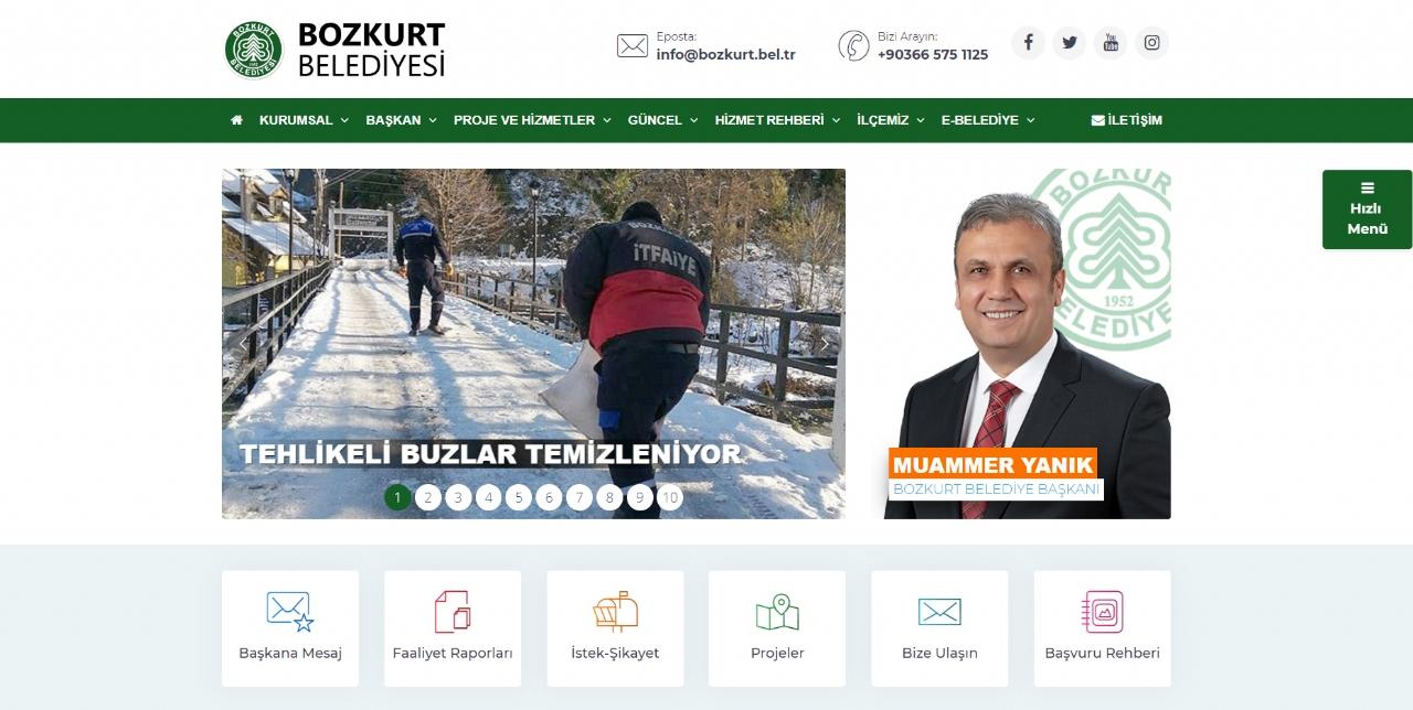 Bozkurt Belediyesi İnternet Sitesi Yenilendi