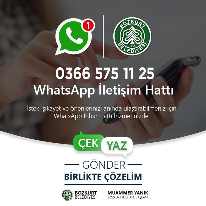Bozkurt Belediyesi Whatsapp İletişim Hattı Hizmete Girdi