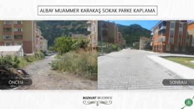 Albay Muammer Karakaş Sokak Parke Kaplama Çalışması