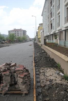 Şehit Er Yunus Yorulmaz Caddesi Yaya Kaldırımları Beton Kaplandı