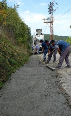 Yüksek Mahalle Şarampol Betonlaması Yapıldı