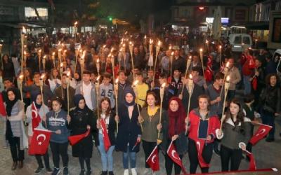 Cumhuriyet Bayramı Fener Alayı Gerçekleştirildi